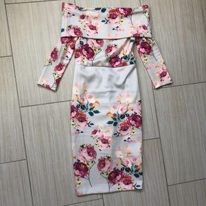 ASOS off the shoulder floral dress